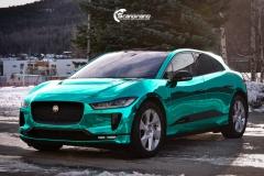 Jaguar I-PACE helfoliert i Turquoise Super Chrome fra Hexis-11