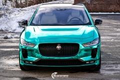 Jaguar I-PACE helfoliert i Turquoise Super Chrome fra Hexis-12