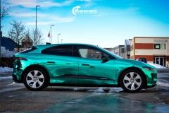 Jaguar I-PACE helfoliert i Turquoise Super Chrome fra Hexis-3