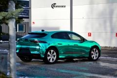 Jaguar I-PACE helfoliert i Turquoise Super Chrome fra Hexis-4