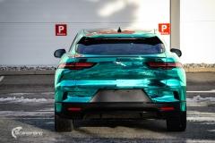 Jaguar I-PACE helfoliert i Turquoise Super Chrome fra Hexis-6