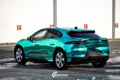 Jaguar I-PACE helfoliert i Turquoise Super Chrome fra Hexis-7