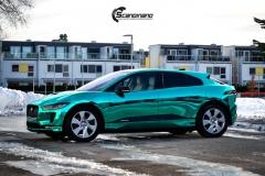 Jaguar I-PACE helfoliert i Turquoise Super Chrome fra Hexis-8