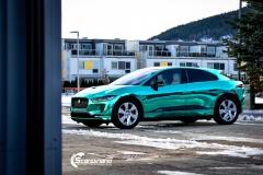 Jaguar I-PACE helfoliert i Turquoise Super Chrome fra Hexis-9