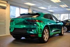 Jaguar I-PACE helfoliert i Turquoise Super Chrome fra Hexis