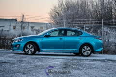 Kia Optima foliert i Ocean Blue