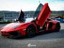 Lamborghini Aventador helfoliert med CC 4115 Rubby Red fra PWF