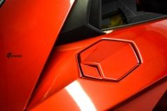 Lamborghini Aventador helfoliert med CC 4115 Rubby Red fra PWF-2