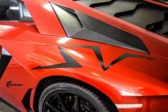 Lamborghini Aventador helfoliert med CC 4115 Rubby Red fra PWF-4