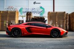 Lamborghini Aventador helfoliert med CC 4115 Rubby Red fra PWF-6