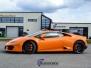 Lamborghini Huracan foliert med gjennomsiktig besk folie