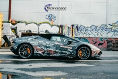 lamborghini spyder custom design wrap by Scandinano_