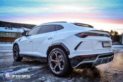 Lamborghini Urus helfoliert med Satin Frozen Vanilla 1