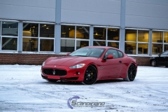 Maserati foliert i gloss dragon red 3m-3
