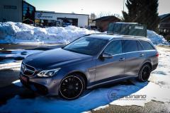 Mercedes AMG foliert med satin grey