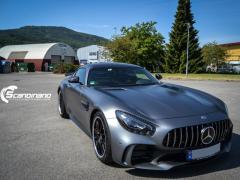 Mercedes AMG GTR foliert med matt lakkbeskyttelsesfilm-3