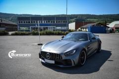 Mercedes AMG GTR foliert med matt lakkbeskyttelsesfilm-2