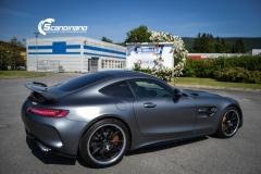 Mercedes AMG GTR foliert med matt lakkbeskyttelsesfilm-5