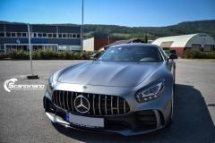 Mercedes AMG GTR foliert med matt lakkbeskyttelsesfilm-7