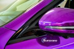 Mercedes-Benz E-Class foliert med Super Chrome Violet-3