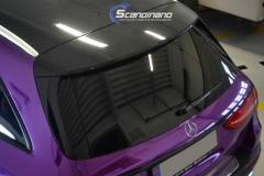 Mercedes-Benz E-Class foliert med Super Chrome Violet