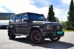 Mercedes-Benz G-Class AMG helfoliert med Matt Diamond Black fra PWF-1