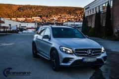 Mercedes Benz GLC foliert med light grey