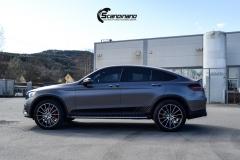 Mercedes-Benz GLC Helfoliert i Satin Dark Grey fra 3M