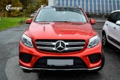 Mercedes-Benz GLE helfoliert i Ruby Red fra PWF (4 из 8)