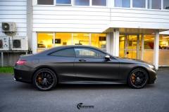 Mercedes-Benz S-Class Coupe AMG helfoliert i Matt Diamond Black fra PWF (5 из 8)