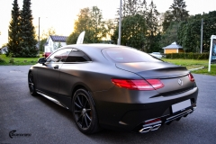 Mercedes-Benz S-Class Coupe AMG helfoliert i Matt Diamond Black fra PWF (7 из 8)
