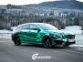 Mercedes CLA Shootingbrake AMG foliert i turkisgrønn krom med custom made design