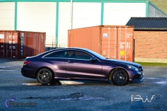 Mercedes foliert i matt midnight purple-2