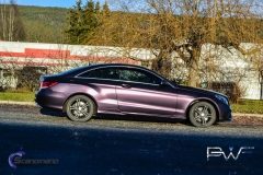 Mercedes foliert i matt midnight purple-3