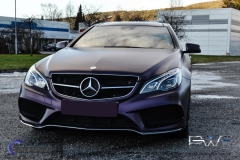Mercedes foliert i matt midnight purple-7