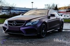 Mercedes foliert i matt midnight purple-8