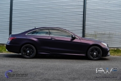 Mercedes foliert i matt midnight purple-9