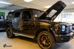 Mercedes G Class helfoliert med Matt Diamond Black fra PWF-1
