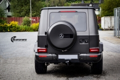 Mercedes G Class helfoliert med Matt Diamond Black fra PWF-7