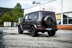 Mercedes G Class helfoliert med Matt Diamond Black fra PWF-8