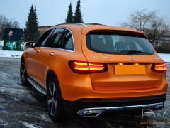 Mercedes GLC foliert i matt sunrise metallic-12