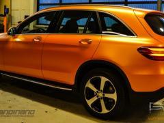 Mercedes GLC foliert i matt sunrise metallic-6