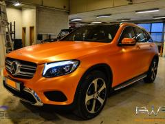 Mercedes GLC foliert i matt sunrise metallic-7