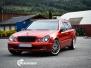 Mercedes W 211 foliert med Dragon Fire Red