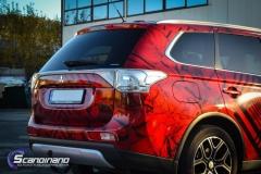 Mitsubishi Outlander foliert med transparent print folie fra ORAFOL-4
