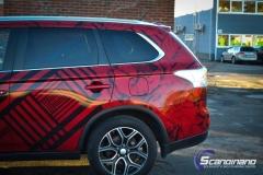 Mitsubishi Outlander foliert med transparent print folie fra ORAFOL