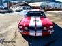 Mustang GT 350 foliering red med racing striper