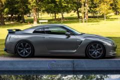 Nissan GTR foliert med black matte chrome