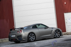 Nissan GTR black matte chrome-2