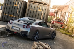 Nissan GTR black matte chrome-3